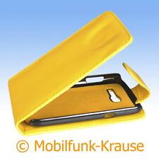 Flip Case Etui Handytasche Tasche Hülle f. Samsung GT-S7390 / S7390 (Gelb)