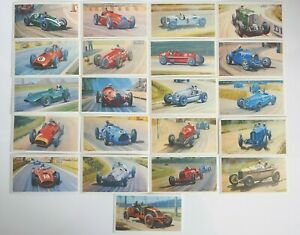 Collectible 1971 Trading - Mobil - The Story Of Grand Prix Motor Racing 21 Cards