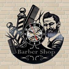 BARBERSHOP CLOCK Wall Vinyl Clock Hairdresser Barber Clock Gifts For Women Men