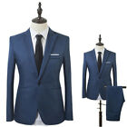 Men Slim Fit Business One Button Formal Two-Piece Suit for Groom Wedding Wit