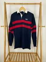 VTG Polo Ralph Lauren Men's Spellout POLO Long Sleeve Rugby Shirt Size L