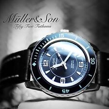 "Müller&Son Seiko Watch SNZH Fifty Five Fathoms SuperMod""A""+Horween Leather Strap"
