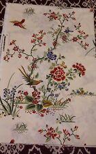 "Vtg Cyrus Clark Suburban Fabrics ""ORIENTALE""  Floral Yardage 4 3/8 Yards 54"" W"