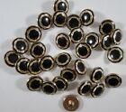 Knopf Knöpfe 15  stück   gold perle  knöpfe  15 mm groß   #1933#