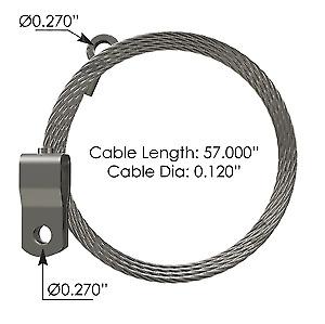 Hood Cable for Kenworth Part# K06846053-HLK2065