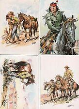 Carte postale. 4 cartes TEX par Aurelio Galeppini.
