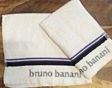 Bruno Banani Crema Ospite Asciugamani X2 400 GSM Leggero Capelli Dresser asciugamani