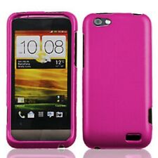 For Virgin Mobile HTC ONE V Rubberized HARD Case Phone Cover Rubber Rose Pink