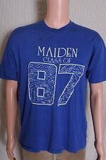 Vintage '80s Class of 1987 Maiden High School NC blue souvenir t shirt M