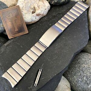 rare 20mm Stainless Steel Bar Link Kreisler Stelux nos Vintage Watch Band