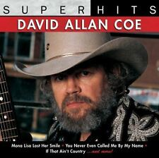 David Allan Coe - Super Hits - Nuevo CD - Damaged Funda