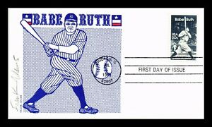 BABE RUTH AMERICAN SPORTS BASEBALL FDC SCOTT 2046 FRANK ADAMS CACHET US COVER