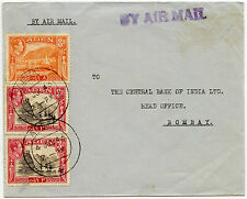 ADEN to INDIA 1946 14A FRANKING...AIRMAIL HANDSTAMP