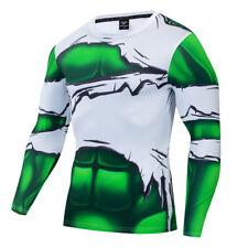 Superhero the Hulk Mens Costume Cosplay Compression Gym 3D Print Fitness T-shirt