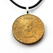 Collier pièce de monnaie France 10 francs Roland Garros