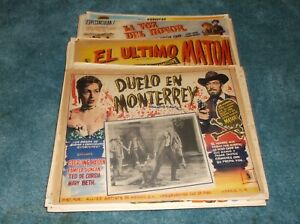 LOT OF 123 WESTERN ORIGINAL MEXICAN LOBBY CARDS NICE!!!