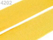2 METER Gummiband Gummibänder Band  20 mm  gelb  NEUWARE (Grundpreis: 1,30€/m)