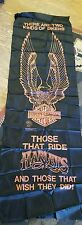 "L@@k!!! Vintage Harley Davidson tapestry door hanging 22"" x 72"" New in package"
