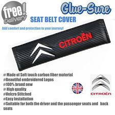 Citroen Car Seat Belt Safety Shoulder Strap Cover Cushion Pad Carbon Fiber