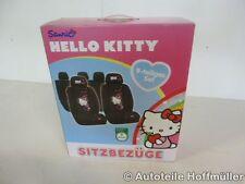 Sitzbezug Set Sitzbezüge Hello Kitty schwarz/ pink 9 teilig universal