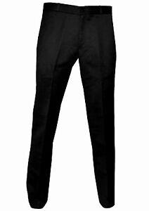 Relco Men's Sta Press Black Trousers Mods Stay Press Pants 60's Skins Ska Mod