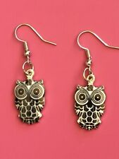 Cute Owl Earrings/Dangle Hook Earrings/Cute/Fashion/Owl/womens/Bird