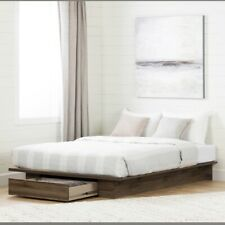 South Shore Tao Contemporary Platform Bed With Storage Drawer