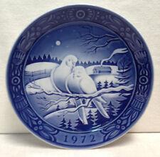 Vintage 1972 GEORGE JENSEN Blue & White Plate ~ First Issue DENMARK