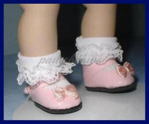 """PINK Patent 28mm 1-1/8"""" Mary Jane Doll SHOES fit GINNY Ginger Muffie"""