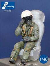 1/48 PJ PRODUCTION FRENCH FIGHTER PILOT SEATED IN A/C (80s-90s)