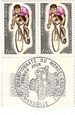 FRANCIA Colección de 2 sellos FDC 22/07/1972 Campeonato del mundo ciclista G52