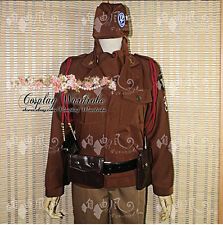 Axis Powers Hetalia APH USA Alfred Cosplay HAT Outfit Costume Cold War Military