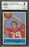 1964 philadelphia #155 KERMIT ALEXANDER san francisco 49ers rookie BGS BCCG 8