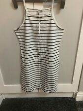 BNWT T-shirt Dress Size 12 White With Navy Stripes From ASOS