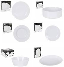 14, 18, 26 PIECE DINNER SET PLATES BOWLS SALAD WHITE PORCELAIN BARGAIN!!!!!