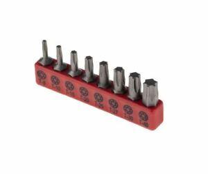 Torx Driver Bit Set 8 Piece T8, T10, T15, T25, T27, T30, T40 Screwdriver Bits UK