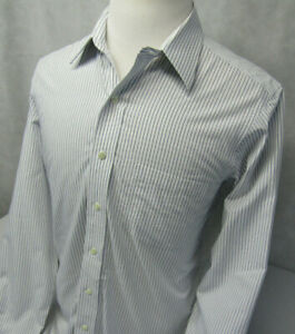 Brooks Brothers Classic Non Iron L/S Button Front Pinstriped Shirt Mens 16 34