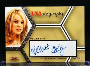 2008 Tristar TNA Silver Autograph VELVET SKY Auto Beautiful People WWE