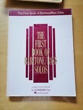 The first book of baritone/bass solos compiled by Joan Frey Boytim