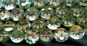 VTG Gorgeous Faceted Frost Coin Beads, 14mm, 22pc str, Choose Colors, CLEARANCE
