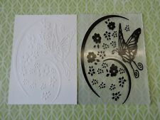 Embossing Folder -  Butterfly with Flowers