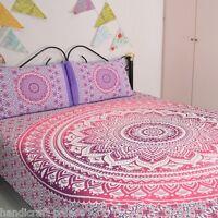 Queen Bed Sheet Hippie Indian Mandala Bedding Bohemian Bed cover Throw Blanket