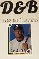 Bernie Williams 1991 Upper Deck Star Rookie RC #11 Yankees Free Shipping