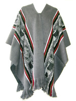 NEW SOFT & WARM  ALPACA WOOL PONCHO OTAVALO