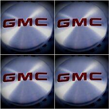 "4,GMC Brushed Aluminum wheel Center Caps 22837060 83mm 3.25"" Sierra Yukon Denali"