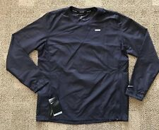 Nike Essential Crew Graphic Men's Running Jacket Gray Size Large L 928423