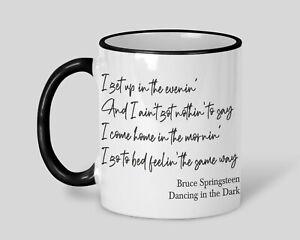 Bruce Springsteen Dancing in the Dark Personalised Mug Music Lyrics Gift