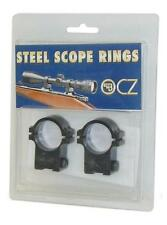 """New! CZ USA 11mm 1"""" CZ 452/453/455 Dovetail Blued Finish Scope Rings 19001"""