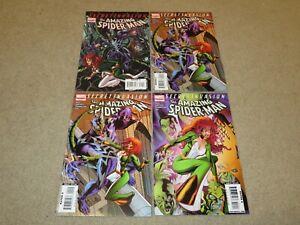 Amazing Spider-Man #1-3 #2x2 Secret Invasion Lot Comic Book VF+ 8.5 Marvel 2008