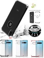 For Samsung Galaxy S10 /Plus /E Hybrid Armor Rubber Protective Clear Case Cover